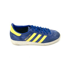Adidas Spezial Mens Handball Shoes Sneakers Suede Blue Yellow 8/10 Womens