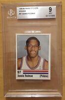 Dennis Rodman Rookie 1988 Panini Sticker Spanish #97 BGS 9 Mint