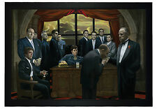 "The Godfather and Scarface Mafia Gangsters 24""x36"" Framed Art Poster (E3-1056)"