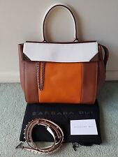 *QUICK SALE* BARBARA BUI Orange Tan White Let It B Leather Bag DISPLAY