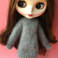 12inch Doll Clothes Sweater For Blythe 1/6 BJD Doll Clothing Accessory Gray