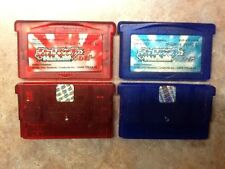 Pokemon Ruby & Sapphire Pocket Monsters (New Batteries In Both) GBA *USA Seller