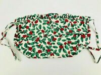Longaberger Small Purse Basket Liner Traditional Holly Made in USA 208427
