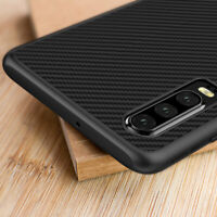 For Huawei P30 P20 Pro Lite Luxury Synthetic Slim Carbon Fiber Back Case Cover