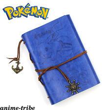 Pokemon Pikachu Blue Diary Workbooks Memo Notebook Vintage With Card Money Bag