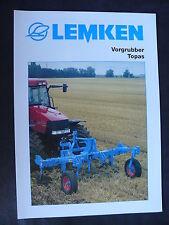 0107) LEMKEN Vorgrubber Topas - Prospekt Brochure 05.2001