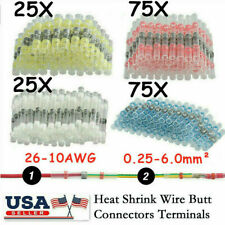 200Pcs Seal Waterproof Solder Sleeve Heat Shrink Butt Terminals Wire Connectors