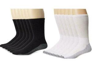 Mens Work Boot Crew Socks Big foot Pair of 5 (Men Size 10-14) (Shoe Size 6-12)
