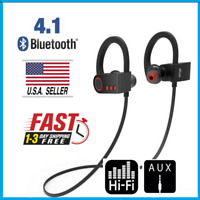 Wireless Headphones Bluetooth 4.1 Sweatproof Sport Earphones Stereo Noise Cancel