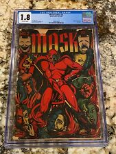 MASK COMICS #2 CGC 1.8 OW PAGES CLASSIC L.B. COLE SATAN COVER RARE HORROR BEAUTY