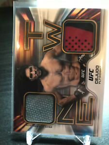 Henry Cejudo 2020 Topps UFC Knockout Card One Two Relic MMA # /100