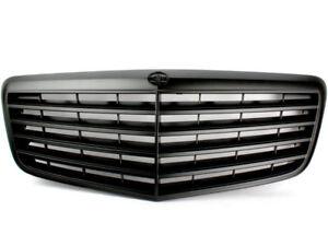 Matte Black Front Grille For Mercedes Benz W211 E-Class E300 E320 E500 07-09