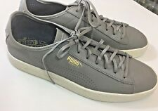 NEW Puma Basket Classic Mens Shoes Size 10M EU43 Gray Leather Lace Up Sneakers