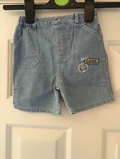 George Boys Blue Denim Shorts Size 9-12 Months