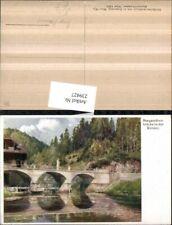 239427,Künstler AK Hugo Darnaut Margarethenbrücke Brücke in d. Walster b. Mariaz