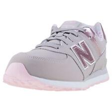 Scarpe grigio New Balance in pelle per bambine dai 2 ai 16 anni