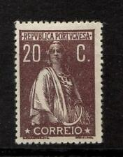 Portugal Stamps 248 Afi 240 20c Chocolate MHR F/VF 1920 SCV $60.00