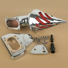 Chrome Spike Air Cleaner Kits Intake Filter For Honda VTX 1800 02-09 Aluminum