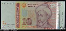Tajikistan Paper Money 10 Somoni 1999 (2013) UNC