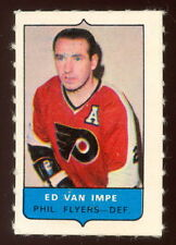 1969-70 OPC O-PEE-CHEE MINI 4 in 1  ED VAN IMPE FLYERS EX-NM STAMP Sticker CARD