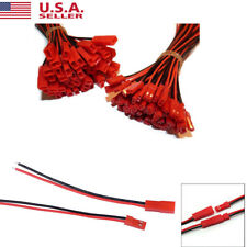 20pack New 2-pin Male Female JST Plug Connectors with 10CM Wire Cables US STOCK