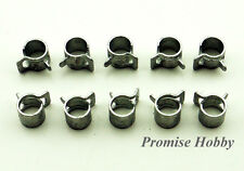 10pcs 6mm diameter metal fuel line clamp for rc boats cars airplanes helicopters