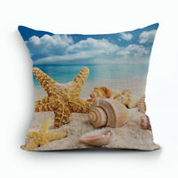 """SHELL BEACH 18"""" X 18"""" PILLOW COVER, DECOR - FAST SHIPPING FROM USA"""
