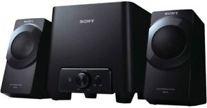 Sony SRSD4 2.1 Desktop Speaker System - Two (2) Wired Speakers and Subwoofer