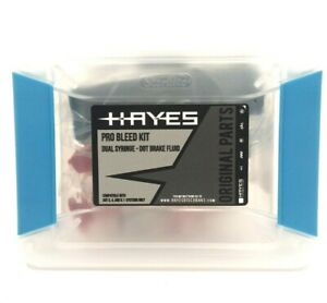 Hayes Pro Bleed Kit for DOT Brakes includes 4 oz of DOT 5.1 fluid