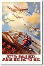 Soviet USSR Cold War Jet Pilot  - NEW Vintage Reprint POSTER