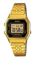 Casio LA680WGA-1 Women's Vintage Gold Tone Chronograph Alarm Digital Watch
