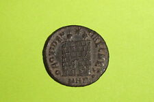 Ancient ROMAN COIN military camp gate CONSTANTINE II 316 AD-340 AD vf ef xf old