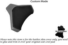BLACK & GREY CUSTOM FITS DUCATI 848 1098 1198 LEATHER SEAT COWL PAD COVER