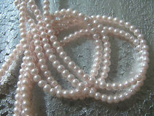 Glass Pearl Beads 4mm 100 beads A Light  Pink Color Round  Bead Jewelry  Beads