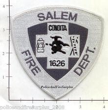 Massachusetts - Salem MA Fire Dept Patch v6 - Old Style Subdued