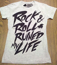 "Glamour Kills logo Graphic Shirt ""Rock and Roll  Ruined My Life"" Junior size Sma"