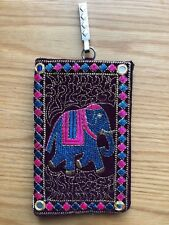 Fatto a mano etnica indiana Rajasthani ricamato Elefante Mobile Pouch SLEEVE