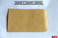 40× Size 160x230mm Card Mailer Business Envelope Yellow standard craft Paper C5