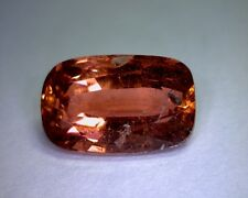 4.48 CT CUSHION CUT NATURAL TOURMALINE, PADPARADSHA COLOR, UNTREATED