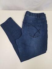 Women's LANE BRYANT Jeans Skinny Tighter Tummy Technology Dark Wash Sz 18R