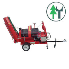 Kettensägeautomat Woodking 40EF 12t Elektromotor Einzugsband Förderband