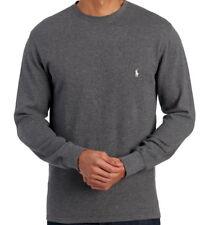 Polo Ralph Lauren Mens Long Sleeve Thermal Waffle Knit T Shirt Charcoal 3XL NWT