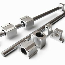 Od 10mm Shaft Rod Optical Axis Amp Linear Rail Support Ball Bearing Block Set