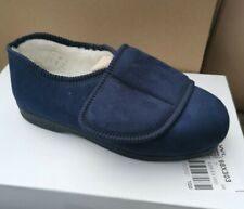 Women's Cosy Comfort By Coolers Navy Wide Fit Slippers • Size 7 • BNIB T41