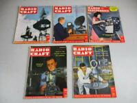 Lot Of 5 Radio Craft Magazines 1946 1947 1949 Television for Today