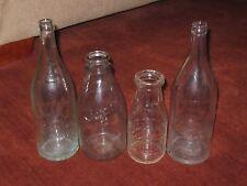 (4) Vintage Bottles, Bridgeport, Ct Borden's Mitchell Dairy Berkshire Bottling