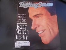 Warren Beatty, Madonna  - Rolling Stone Magazine 1990