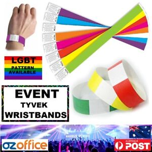 Tyvek Paper Wristbands - Party Event Festival LGBT Wedding Birthdays Club VIP