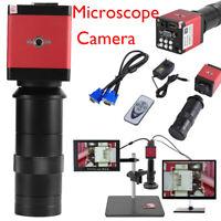 8~130X Digital Industrial Microscope Camera HDMI VGA Video Zoom C-Mount Len 14MP