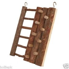 HAMSTER MOUSE NATURAL WOOD CLIMBING WALL & LADDER TOY HOOKS TO CAGE CHEW & PLAY
